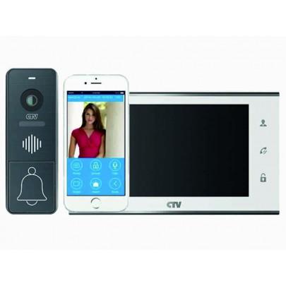 """Комплект видеодомофона IP CTV-DP4707IP с экраном IPS 7"""",  Full HD, встроенный модуль Wi-Fi"""