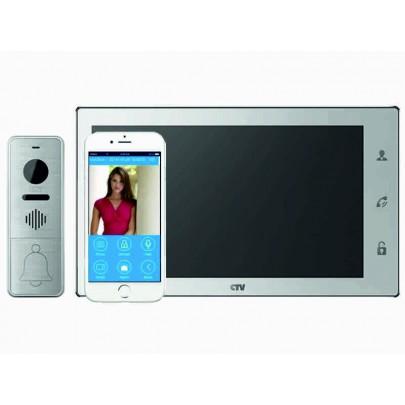 Видеодомофон цветной CTV-M4707IP на две вызывные панели,wi-fi P2P, сенсорным управлением Touch Screen, Full HD, microSD