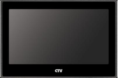 Видеодомофон цветной CTV-М4704AHD на две вызывные панели, сенсорным управлением Touch Screen, Full HD, microSD