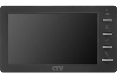 """Видеодомофон цветной CTV-M1701MD на две вызывные панели, 4-x проводной 7"""", micro SD (32Gd)"""