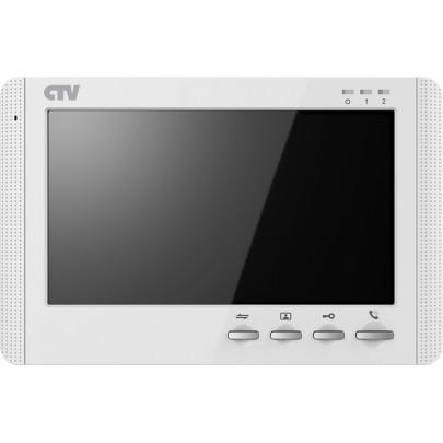 """Видеодомофон цветной CTV-M1704MD на две вызывные панели, 4-x проводной 7"""", micro SD (32Gd)"""