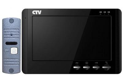 """Комплект цветного видеодомофона CTV-DP1704MD с экраном 7"""", Hands free, кнопочное управление"""