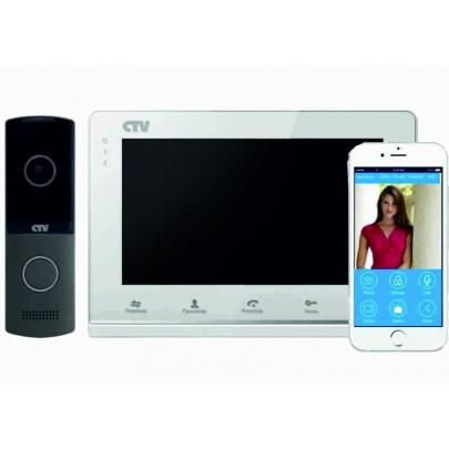 """Комплект цветного видеодомофона CTV-DP2700IP NG с экраном 7"""" TFT IPS LCD,  встроенный модуль Wi-Fi"""