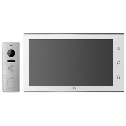 """Комплект цветного видеодомофона CTV-DP4105AHD с экраном 10"""" TFT IPS LCD,  сенсорным экраном Full HD"""