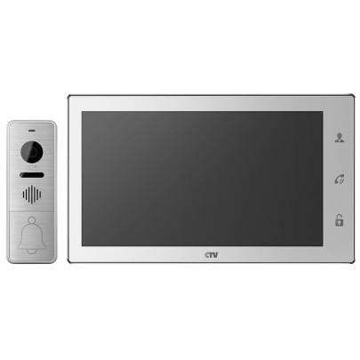 """Комплект цветного видеодомофона CTV-DP4106AHD с экраном 10"""" Touch Screen,  сенсорным экраном Full HD"""