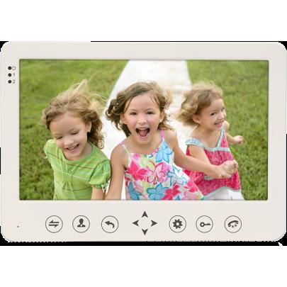 """Видеодомофон цветной EVJ-10 на две вызывные панели 4-x проводной 10"""" LCD TFT , слот microSD"""