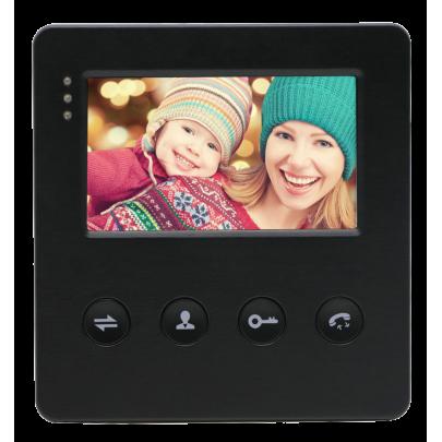 """Видеодомофон цветной EVJ-4(b)  на две вызывные панели 4-x проводной 4.3"""", слот microSD"""