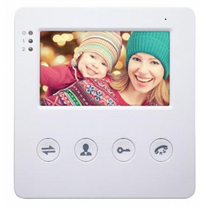 """Видеодомофон цветной EVJ-4(w)  4-x проводной 4.3""""  на две вызывные панели, слот microSD"""