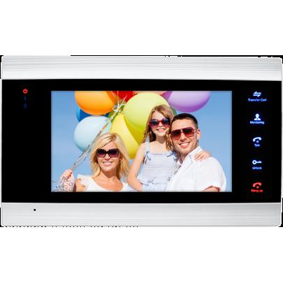 """AHD видеодомофон EVJ-71-AHD цветной на две вызывные панели 4-x проводной 7"""", слот microSD"""