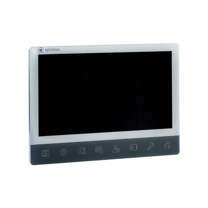 """Видеодомофон цветной Optimus VMH-10 на две вызывные панели 4-x проводной 10"""" LCD TFT , слот microSD"""