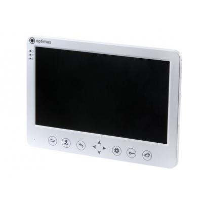 """Видеодомофон цветной Optimus VM-10.1(w) на две вызывные панели 4-x проводной 10"""" LCD TFT , слот microSD"""