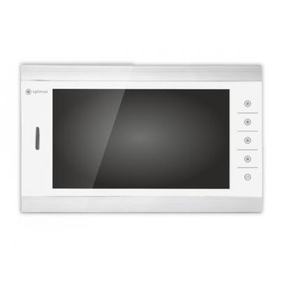 """Видеодомофон цветной Optimus VM-10.1(sw)(sb) на две вызывные панели 4-x проводной 10"""" LCD TFT , слот microSD"""