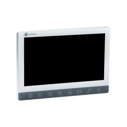 """Видеодомофон цветной Optimus VMH-7 на две вызывные панели, 4-x проводной 7"""", слот microSD"""