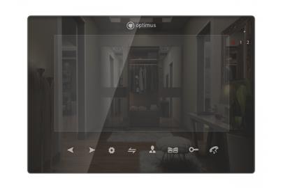 """Видеодомофон цветной Optimus VMH-7.5 TFT LCD на две вызывные панели, 4-x проводной 7"""", 1024x600, слот microSD"""