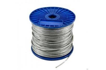 Трос стальной  2 мм для протяжки кабеля